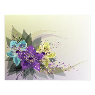 El diseño floral abstracto decorativo de la postal