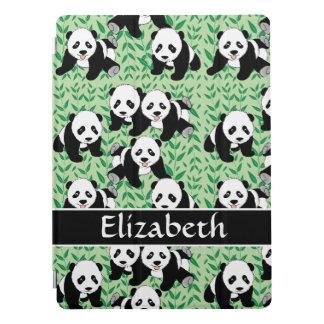 El diseño gráfico de los osos de panda personaliza cubierta para iPad pro