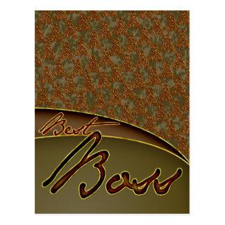 El diseño marrón de oro del mejor jefe postales