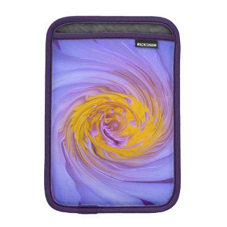 El diseño púrpura del giro del lirio de agua funda para iPad mini