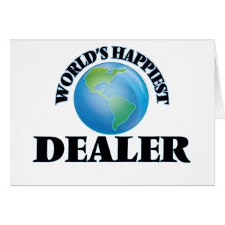 El distribuidor autorizado más feliz del mundo tarjeta de felicitación