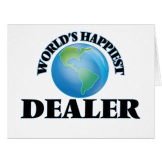 El distribuidor autorizado más feliz del mundo tarjeta de felicitación grande