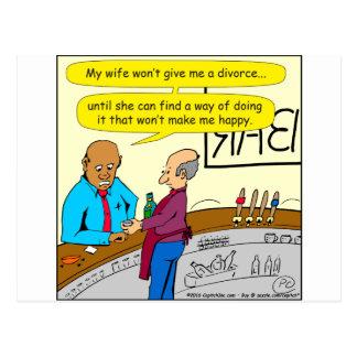 el divorcio 853 me hace el dibujo animado feliz postal