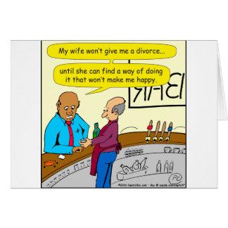 el divorcio 853 me hace el dibujo animado feliz tarjeta de felicitación
