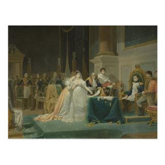 El divorcio de la emperatriz Josephine (1763-1814) Postal