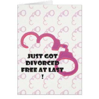 El divorcio divertido libera en el último tarjeta de felicitación