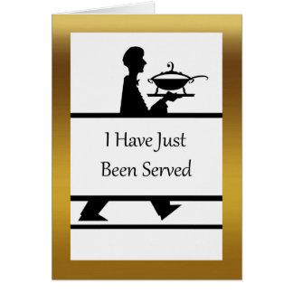 El divorcio empapela la invitación, apenas servido tarjeta de felicitación