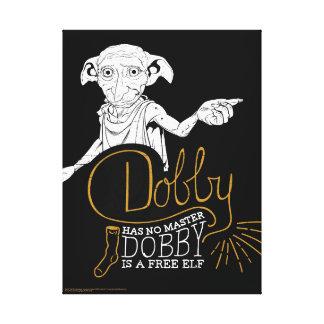 El Dobby de Harry Potter el   no tiene ningún amo Impresión En Lienzo
