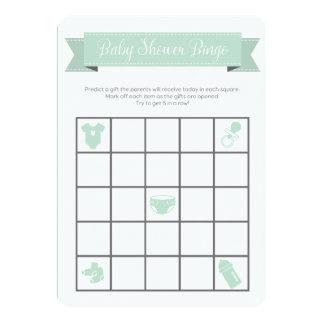 El doble gris del juego del bingo de la fiesta de invitación 12,7 x 17,8 cm