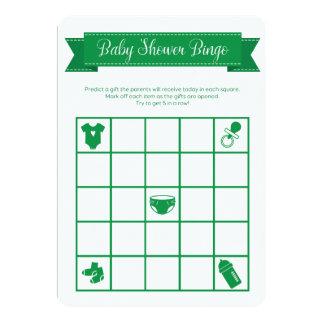 El doble verde del juego del bingo de la fiesta de invitación 12,7 x 17,8 cm