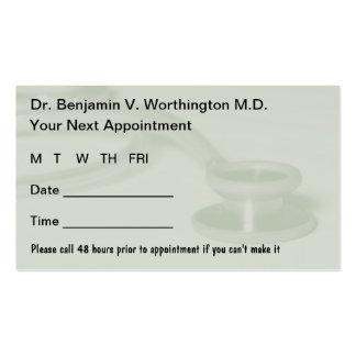 El doctor Appointment Cards Plantillas De Tarjetas De Visita