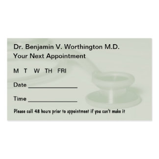 El doctor Appointment Cards Tarjetas De Visita