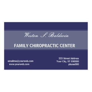 El doctor azul simple llano Chiropractic Striped Tarjetas De Visita