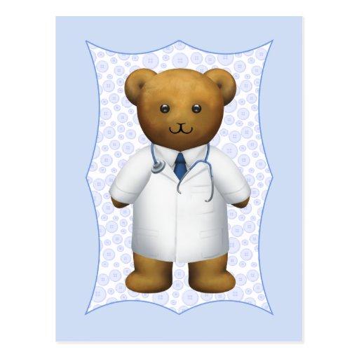 El doctor Bear - oso de peluche Tarjetas Postales
