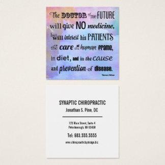 El doctor de la quiropráctica futura de la tarjeta de visita cuadrada