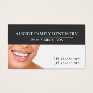 El doctor dental Smile Business de la odontología Tarjeta De Visita