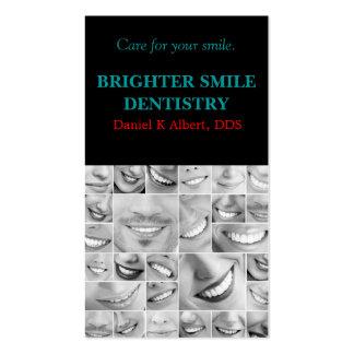 El doctor dental Smile Business de la odontología  Tarjetas Personales