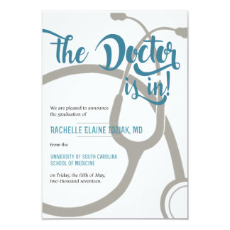 El doctor está adentro invitación 8,9 x 12,7 cm