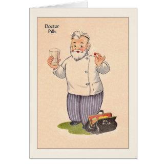 El doctor Get Well Card del vintage Tarjeta De Felicitación