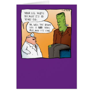 El doctor Get Well Soon Card de Frankensteins Felicitaciones