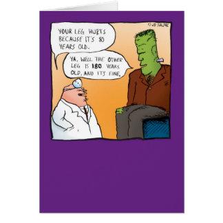 El doctor Get Well Soon Card de Frankensteins Tarjeta De Felicitación