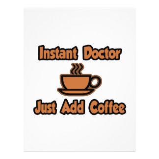 El doctor inmediato… apenas añade el café flyer a todo color