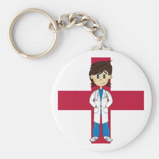 El doctor lindo Character Keychain Llaveros Personalizados