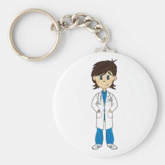El doctor lindo Character Keychain Llavero Redondo Tipo Chapa