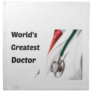 El doctor más grande Design del mundo Servilleta De Tela