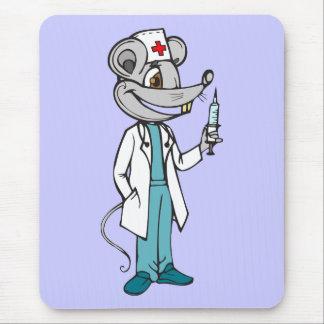El doctor Nurse Mouse Alfombrilla De Ratón