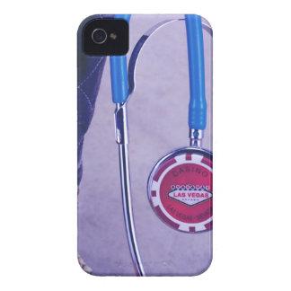 El doctor occidental púrpura Gambling Stethoscope iPhone 4 Fundas