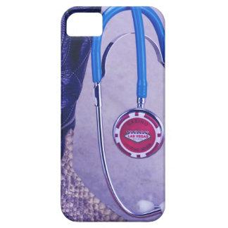 El doctor occidental púrpura Gambling Stethoscope iPhone 5 Protectores