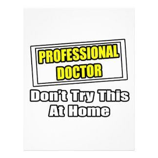 El doctor profesional… no intenta esto en casa tarjetas publicitarias
