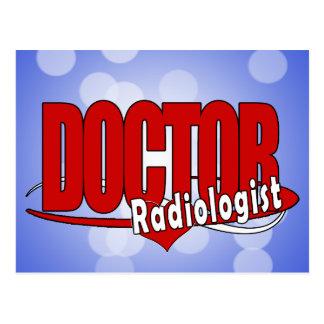 EL DOCTOR RADIOLOGIST DEL LOGOTIPO POSTAL