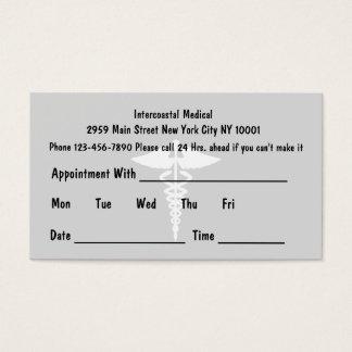 El doctor simple Appointment Cards Tarjeta De Negocios