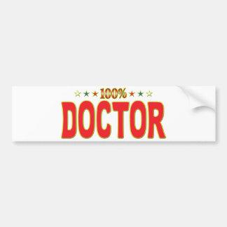 El doctor Star Tag Pegatina De Parachoque