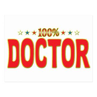 El doctor Star Tag Tarjeta Postal