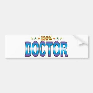 El doctor Star Tag v2 Etiqueta De Parachoque