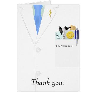 El doctor Thank You Card Tarjeta Pequeña