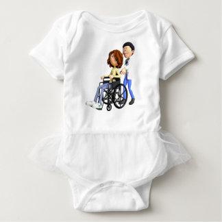 El doctor Wheeling Patient In Wheelchair del Body Para Bebé