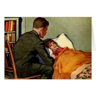 El doctor With Sick Child Tarjeta De Felicitación