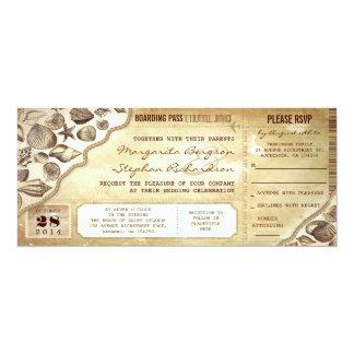 el documento de embarque náutico del boda marca invitación 10,1 x 23,5 cm