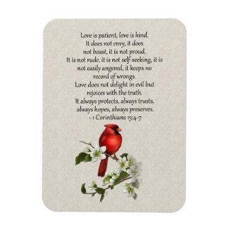 el Dogwood rojo del pájaro 3x4 que el amor es amor Iman
