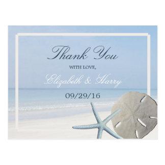 El dólar de arena y el boda de playa de las postal