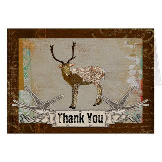 El dólar de bronce le agradece cardar tarjeta de felicitación