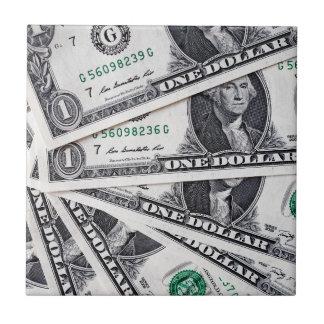 El dólar observa 1 dólar azulejo