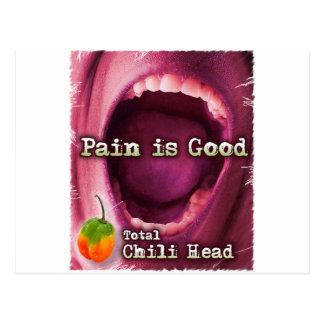 El dolor es buena cabeza de Chile Postal