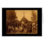El domingo por la mañana masa católica 1861 tarjeta de felicitación