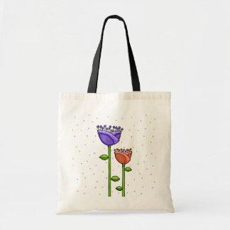 El Doodle de la diversión florece el bolso púrpura Bolsa
