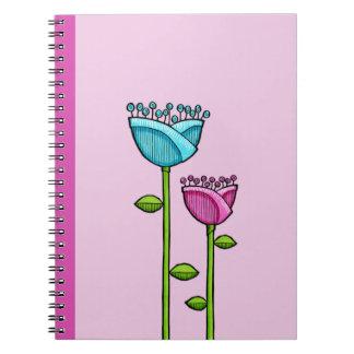 El Doodle de la diversión florece el cuaderno azul